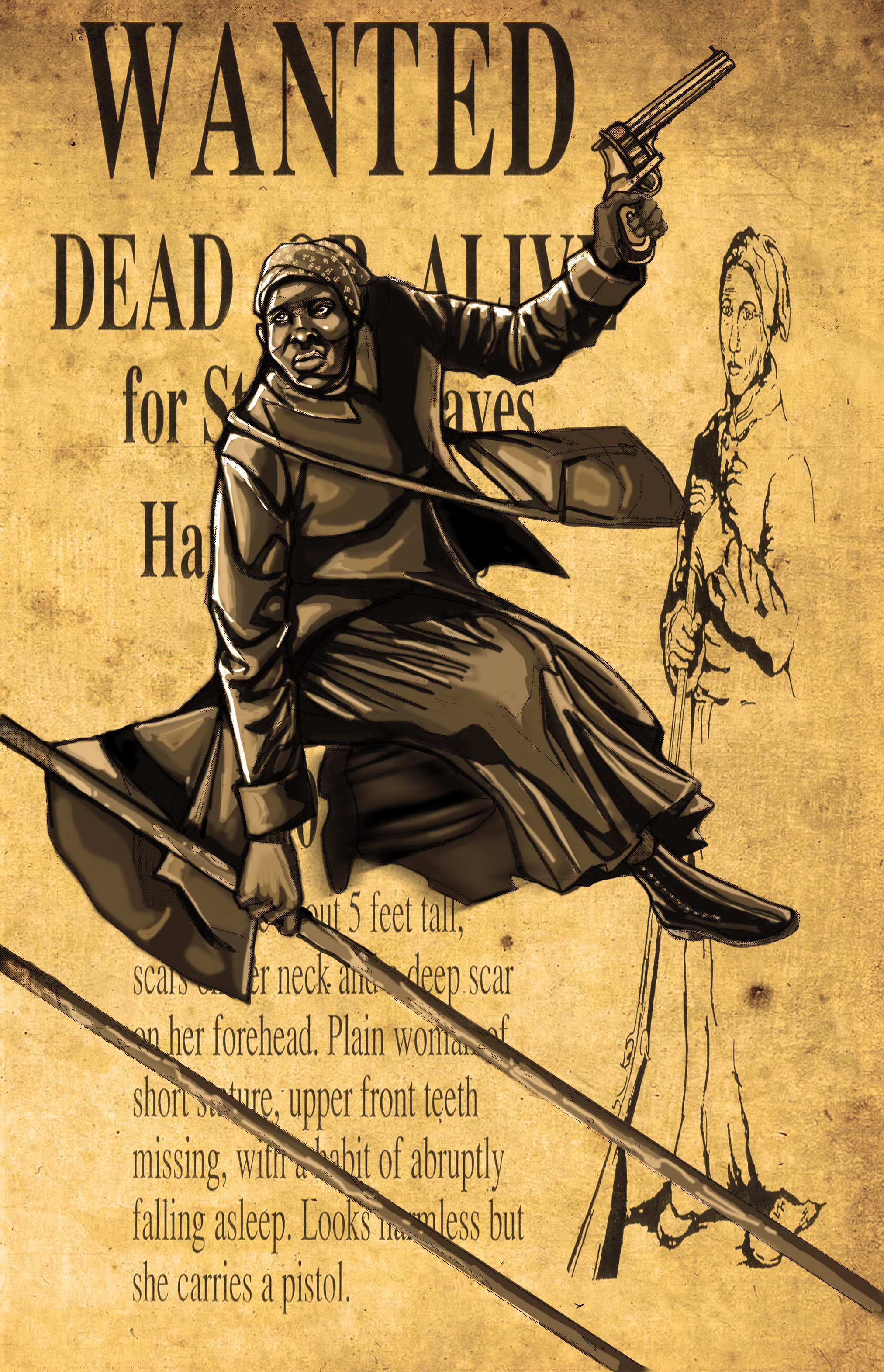 Speculative tribute to harriet tubman aker futuristically ancient
