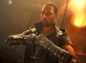 Rza, in the Steamy martial arts movie Man With the Iron Fists. Universal Pictures