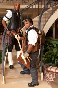 "Steampunk icons, Tony Ballard-Smoot and Mark Curtis from ""The Steampunk Bible"""