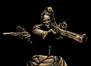 Steamfunk Harriet Tubman, the cover for the third installment of Moses: The Chronicles of Harriet Tubman. Artwork by Stanley Weaver.