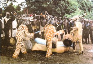 A traditional funeral in Côte d'Ivoire.