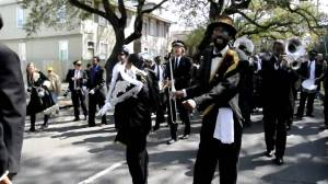 A New Orleans funeral procession.