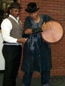 Balogun Ojetade and Milton Davis