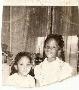 My big sisters: Phyllis (right) and Alesia (left).